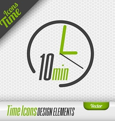Time icon 10 minutes symbol design elements vector