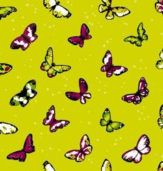 seamless highly detailed background with butterfli vector image