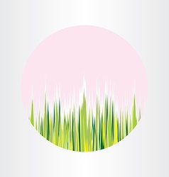 Spring nature grass circle abstract background vector