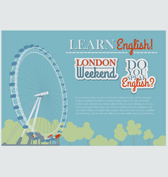 English flyer template vector