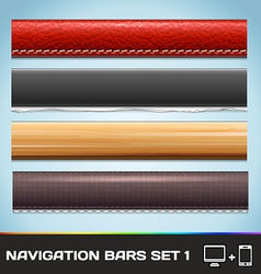 Navigation bars for web and mobile set1 vector
