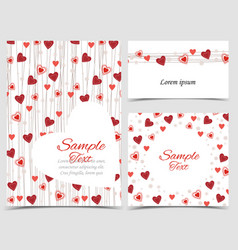 Background with heart decoration vector