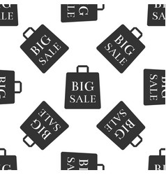 big sale bag seamless pattern on white background vector image vector image