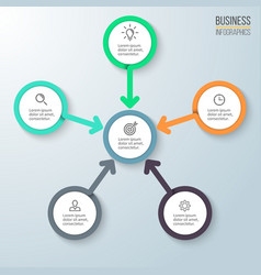 Business infographics Diagram for presentation vector image vector image