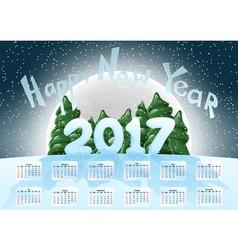 Calendar 2017 happy new year merry christmas year vector