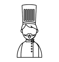Chef hat profile vector