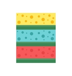 Cleaning rag forhouse flat vector