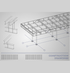 construction drawings cover background for vector image vector image