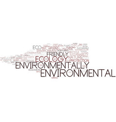 Environmentally word cloud concept vector