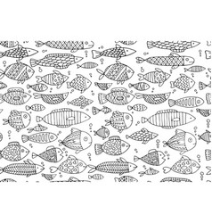 Fish collection seamless pattern for your design vector