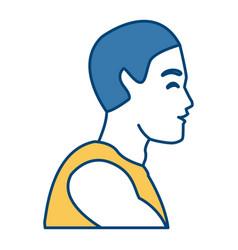 fitness man profile vector image