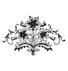 Floral motif is a decorative elements vintage vector