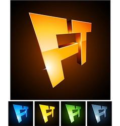 FT vibrant emblems vector image