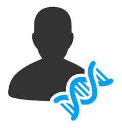 Geneticist dna flat icon vector