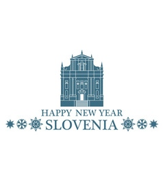 Greeting Card Slovenia vector image