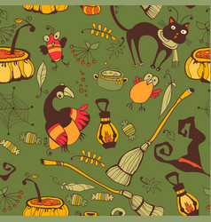 halloween day thanksgiving harvest vector image