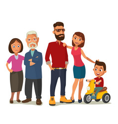 happy family parents grandparents and child on a vector image vector image