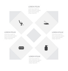 icon fashion set of instrument interior lotion vector image vector image
