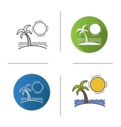 Island icons vector