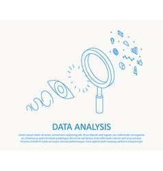 isometric thin line design concept data analysis vector image vector image