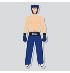 Kickboxing fighter vector