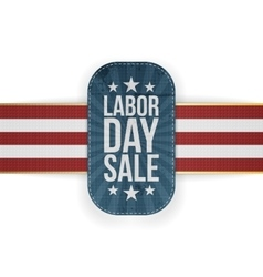 Labor day sale patriotic banner with stars vector