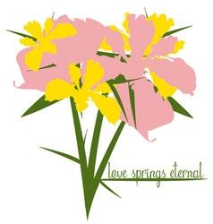 Love springs eternal vector