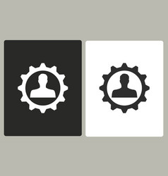 management consulting - icon vector image vector image