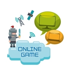 online games character concept bubble speech vector image
