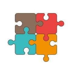Puzzle jigsaw piece vector