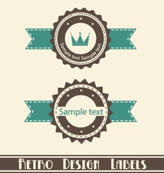 retro design labels vector image vector image