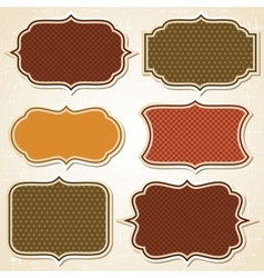 Retro Labels Stickers Set vector image vector image