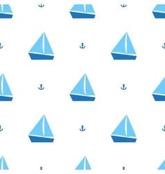 Sailing ships pattern vector