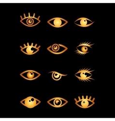 set eyes design vector image