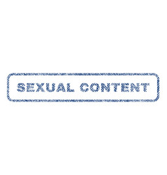 Sexual content textile stamp vector