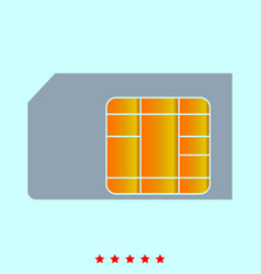 Sim card it is icon vector