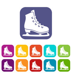 skates icons set vector image vector image