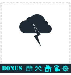 Storm icon flat vector image vector image
