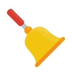 Gold school bell flat vector