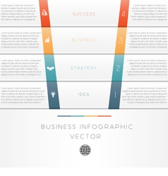 Template infographic strips 4 position vector