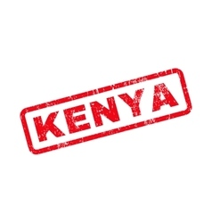 Kenya text rubber stamp vector