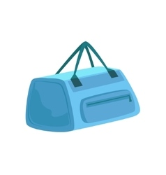 Small blue sportive handbag with two handles item vector