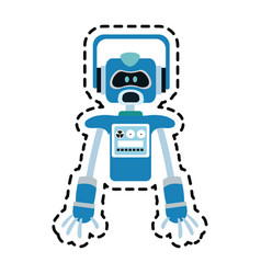 Robot technology icon image vector