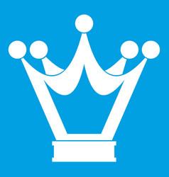 Princess crown icon white vector