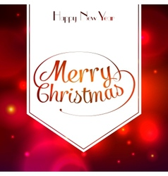 Merry christmas typographic greeting card vector