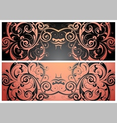Ornament banner vector