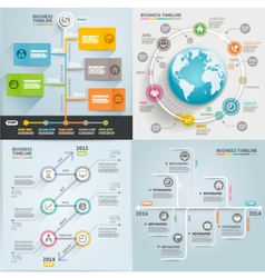 Business timeline elements template vector