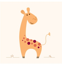 Cute Giraffe character for baby room vector image
