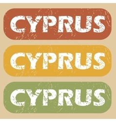Vintage cyprus stamp set vector