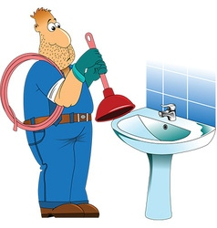 Plumber cartoon vector